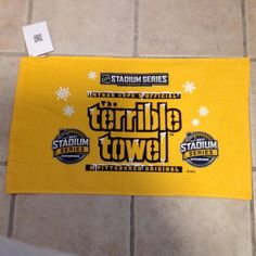 Pittsburgh Steelers NHL 2017 Stadium Series Terrible Towel | Sports Mem, Cards & Fan Shop, Fan Apparel & Souvenirs, Football-NFL | eBay!