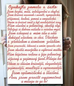 Dárek pro ženy, nástěnný obraz Positive Vibes, Positive Quotes, Diy Presents, Better Day, Art Journal Pages, New Tricks, Happy Life, Slogan, Quotations