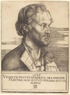 (© - National Gallery of Art - www.nga.gov) Medium: Engraving Dimensions: Plate: 17.2 x 12.6 cm (6 3/4 x 4 15/16 in.) Sheet: 17.5 x 13.1 cm (6 7/8 x 5 3/16 in.) This is Dürer's portrait of the famous reformer, Philip Melanchthon. Melanchthon was at least partly responsible for the long-term success of the Protestant Reformation; he contributed much to the cause by, for example, helping to consolidate many of Martin Luther's earlier ideas. (Text: Emily Wilkinson) Article data The classic art… Albrecht Durer, Martin Luther, Fine Art Prints, Canvas Prints, Museum, National Gallery Of Art, Classic Image, Historical Maps, Renaissance Art