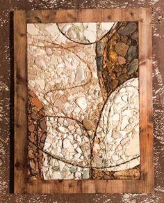 """Nudo"""" (62x82 cm) Interpretação a mosaico da obra do artista friulano Nilo Cabai realizada para o """"V Premio Itineraria"""", categoria """"corso secondo"""". Mosaico realizado em técnica direta utilizando somente materiais naturais (mármores e pedras)."""