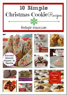 10 Simple Christmas Cookie Recipes to get your Holiday baking going!