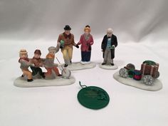 Dept. 56 Heritage/Snow Village Lot of 5 Salvation Army Band, Fezziwigs and More