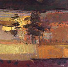 back ground for sunset sky, Sandy Murphy (Scottish artist) - Autumn Wood, oil painting. Abstract Landscape Painting, Landscape Art, Landscape Paintings, Painting Abstract, Abstract Paintings, Contemporary Paintings, Art Paintings, Watercolor Painting, Tree Art