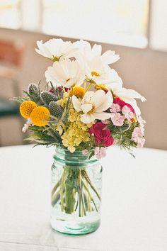 Mason jar florals <3
