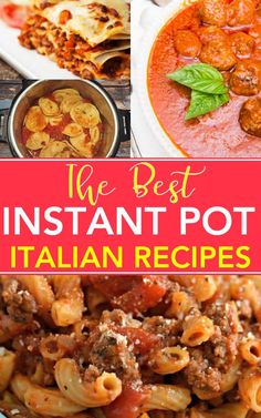 The BEST Italian Instant Pot Recipes - In the mood for some Italian food? Are you a pressure cooker? If yes, you will LOVES this - here's the BEST Instant Pot Italian Recipes - mamma approves! via @digitalmomblog