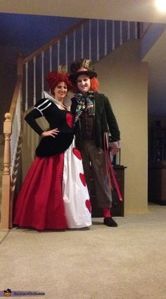 Queen of Hearts and Mad Hatter - Halloween Costume Contest via @costume_works