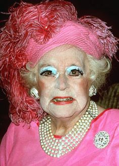 Aunt Beth was pleased to be first runner up in the Pincher Creek Annual Phyllis Diller look-a-like contest.