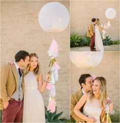 Wedding Confetti Balloon - Kate Spade Inspired Wedding - As seen on Ruffled- love this idea!  and they sell the balloons in their etsy shop!
