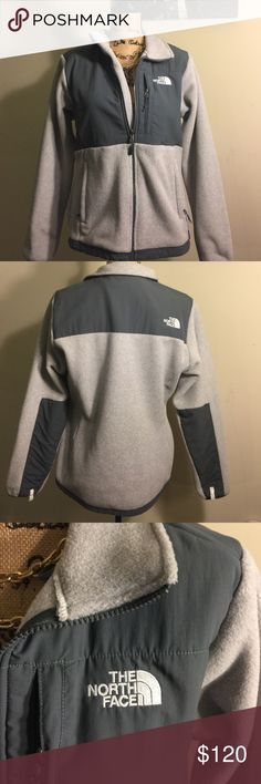 NWOT North Face Fleece Denali Jacker Gray The North Face Denali Jacket. Picture has no filter so you can see the true color. I purchased, took the tags off, and then never wore it.                                                                                                                    Offers Welcome!  Bundles Welcome! North Face Jackets & Coats Utility Jackets