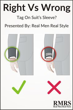 Tag on Suit's Sleeve - Should you remove it or not?