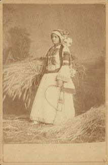 Hellenic Genealogy Geek - Family History Research Tools for Greek Genealogy: Photograph - 1880 - Portrait of a woman wearing tr. Benaki Museum, Traditional Dresses, Folklore, Family History, Genealogy, Greek, Women Wear, Costumes, Portrait