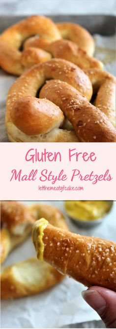 Gluten Free Mall Style Pretzels No more longing for Auntie Anne's style pretzels! The golden buttery flavor of these gluten free mall style pretzels will satisfy your craving 🥨 lactosefreediet Gluten Free Pretzels, Gluten Free Treats, Gluten Free Desserts, Gluten Free Muffins, Patisserie Sans Gluten, Dessert Sans Gluten, Gf Recipes, Dairy Free Recipes, Healthy Recipes