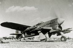 A British Hawker Typhoon fighter