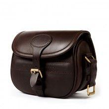 Leather Cartridge Bag Dark Brown