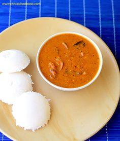 Tomato kurma recipe, Thakkali kuruma for idli dosa idiyappam and appam. Notes : blend the onion to a paste too . Vegetarian Recipes Easy, Veg Recipes, Vegetarian Cooking, Indian Food Recipes, Cooking Recipes, Recipies, South Indian Breakfast Recipes, Indian Snacks, Savoury Recipes