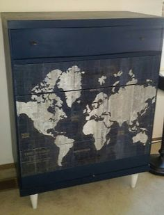 Reduce, Reuse, Renewed: Around the World Mid-Century Dresser Makeover
