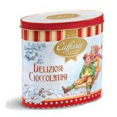 Caffarel Vintage Oval Tin - Assorted Chocolates, Gourmet & Artisan Foods :: Chocolate & Confections :: Bullszi.com