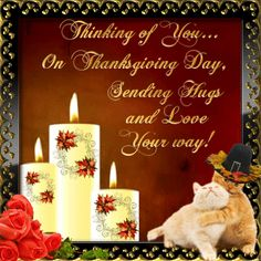Thanksgiving/Happy Thanksgiving section. This ecard can be sent to anyone on Thanksgiving. Permalink : http://www.123greetings.com/events/thanksgiving/wishes/hugs_and_love_6.html