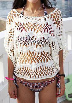 Beige Knit Top @LookBookStore
