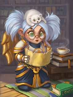 World of Warcraft - Gnome Priest studying or doing some research. Gnome Priests are known to not only be practitioners of healing arts, but to also be historians and scholars of high renown.