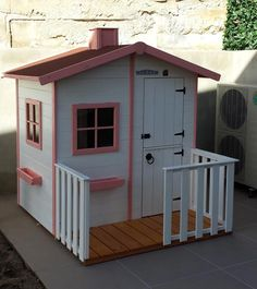 Casita de madera para niños WENDY Cute House, Girls Playhouse, Wooden Playhouse, Playhouse Outdoor, Pent House, Cubby Houses, Play Houses, Barn Wood, Diy For Kids
