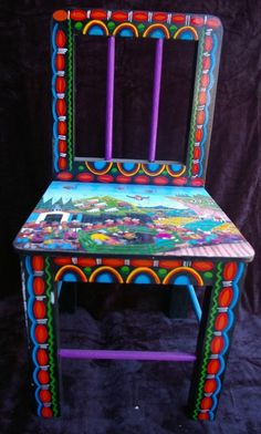 Tigua Hand Painted Chair