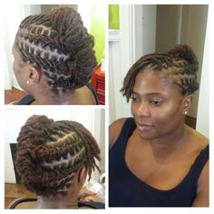 This is a style for shorter Locs.  I would have curled the bangs, though.