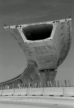 Not architecture, but it is Structurally Awesome! Look at that!! Cantilevered section of highway.
