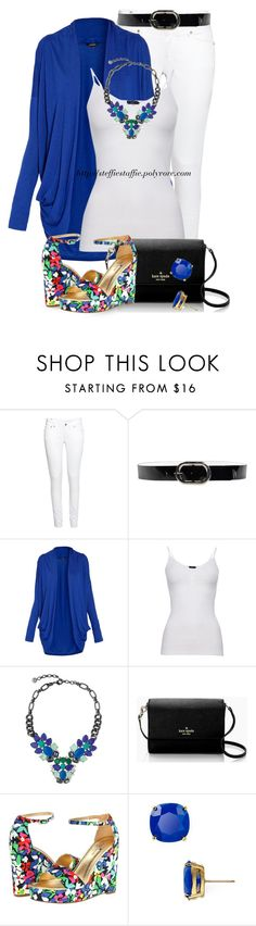 """Floral Wedges, Cobalt Blue & Black"" by steffiestaffie ❤ liked on Polyvore featuring H&M, Orciani, Morgan, Minus, Stella & Dot and Kate Spade"
