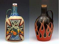 """Owned by veterans, Montana-based Carlburg Pottery makes ceramic beer growlers, beautiful handcrafted jugs for carrying microbrew. Liquor List, Wine Making Equipment, Beer Ingredients, Home Brewery, Beer Growler, Brew Pub, Pottery Making, Best Beer, Bottle Design"