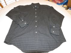 Ralph Lauren Men's L large Blake cotton long sleeve plaid button up Shirt EUC @ #PolobyRalphLauren #ButtonFront