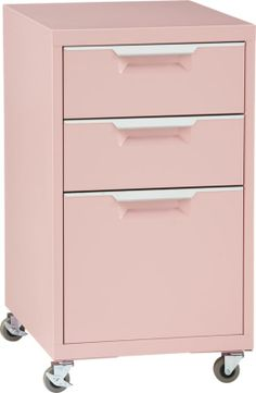 How can I ignore this? We own the white cabinet and this will be that Pink accent I desire for our living room/office TPS pink file cabinet  | CB2