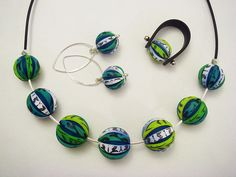 Polymer Clay Jewelry Set | Flickr - Photo Sharing!