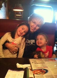 Granny with two very happy little girls