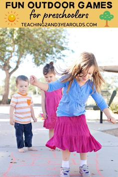 When the weather is nice, get outside and try some of these outdoor games that preschoolers love. Each one gets the body moving while also building skills! Outdoor Games For Preschoolers, Educational Activities For Preschoolers, Preschool Games, Toddler Preschool, Games For Kids, Motor Activities, Toddler Activities, Preschool Activities, Fun Outdoor Games
