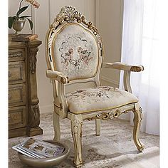 I would like to paint one of my older chairs white and distress like this.