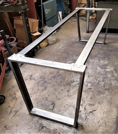 Trapezoid Steel Legs with 2 Braces, Model Dining Table Industrial Legs, Set of 2 Legs and 2 Braces Steel Table Legs, Steel Dining Table, Dining Table Legs, Dining Table Design, Wood Table, Steel Furniture, Furniture Legs, Table Furniture, Furniture Makeover