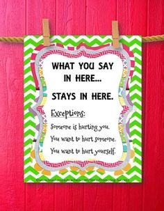School Counseling, great way to remind students of the nature of confidentiality