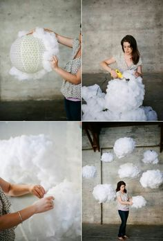 40 DIY wedding decor ideas - beautiful wedding decorations to make yourself - Wedding decoration ideas – fluffy clouds Informations About 40 DIY Hochzeitsdeko Ideen – schöne - Diy Y Manualidades, Practical Wedding, Paper Flowers, Diy And Crafts, Wedding Decorations, Wedding Backdrops, Wedding Ideas, Trendy Wedding, Wedding Fun