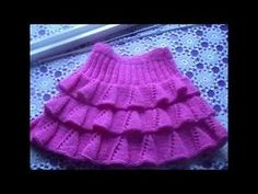Tricot Merveilleux point tricot / Wonderful knitting point with two needles - YouTub . Knitting For Kids, Baby Knitting Patterns, Knitting Stitches, Crochet Patterns, Knit Baby Dress, Baby Vest, Knitting Videos, Knit Skirt, Crochet Lace
