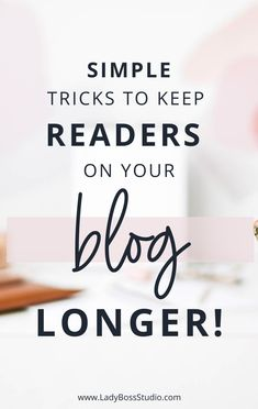 Simple Tricks to Keep Readers on Your Blog Longer! With these simple tricks and tips! We cover three important ways to keep readers on your blog longer! Create engagement with these topics your audience will enjoy! Learn to market your blogs properly! Check out our post to get the most out of your blog now! We show you the best way to grow your audience by keeping your audience engaged! #BloggingTips #EngagingAudience #WebTraffic #OnlineBusiness Make Money Blogging, How To Make Money, Content Marketing, Affiliate Marketing, Business Marketing, Business Tips, Online Business, Business Quotes, Thing 1