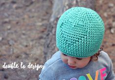 Crochet Pattern for Embossed Heart Beanie Hat  7 sizes baby
