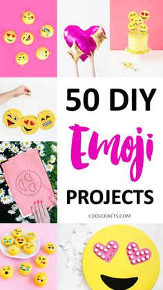50 DIY Emoji Craft Ideas That Will Put a Smile on Your Face, http://www.coolcrafts.com/diy-emoji-crafts/