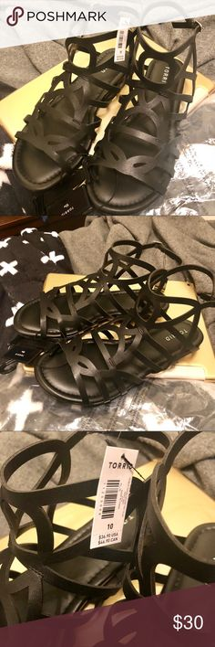 NWT Torrid Black Gladiator Sandals NWT! Brand new! Black faux leather gladiator sandals. Never worn, just tried on. Women's Size 10w. torrid Shoes Sandals