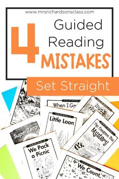 Guided reading can be overwhelming when you're thinking about organizing materials, creating an effective schedule, implementing different strategies, and so much more. Through my years of teaching, I've come to learn there are 4 major guided reading mistakes, or misconceptions, that need to be set straight! Learn more about these misconceptions, and what you can do to avoid them with your kindergarten, first grade, or second grade students.