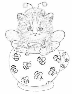 Teacup Kittens Coloring Book: Kayomi Harai: 9781497202269