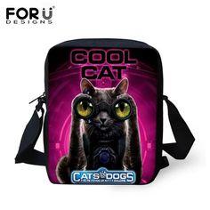 Fashion Children School Bags Black 3D Animal Cat Printed Schoolbag for Girls Small Baby Boys Bookbag Kids Mini Mochila Infantil