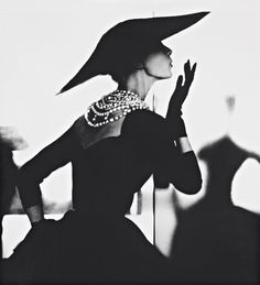 Blowing Kiss - Barbara Mullen NYC 1958 by Lillian Bassman