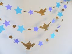 Princess Jasmine themed Birthday Decorations - 1st Birthday Decor - Princess Jasmine Party Decor- Star garland - Your length & color choice by anyoccasionbanners on Etsy https://www.etsy.com/listing/232684395/princess-jasmine-themed-birthday