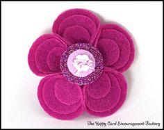 Adorable Felt Flower Pin
